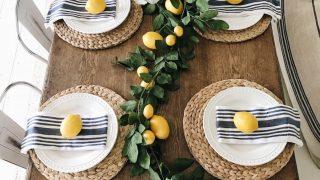 Summer Lemon Farmhouse Dining Room