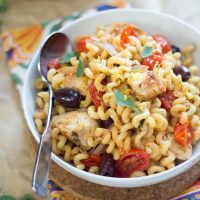 20 Minute Greek Pasta with Chicken