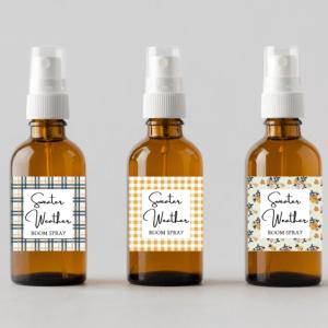Fall Room Spray Bottle Labels