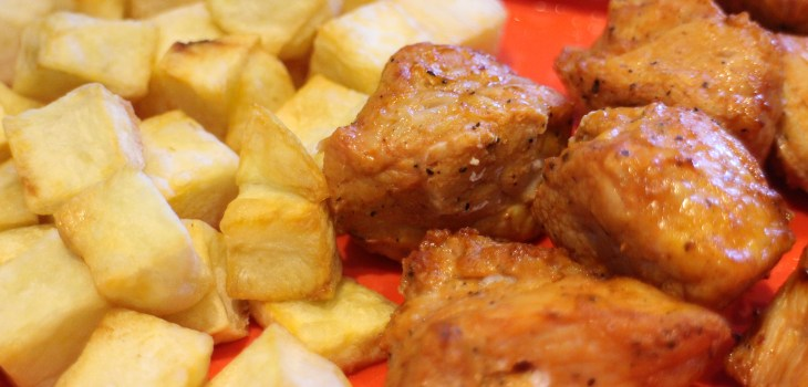AirFryer Marinated Pork with Fries