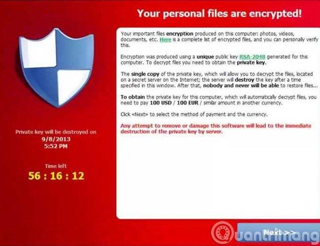 Thuật mã hóa của CryptoLocker