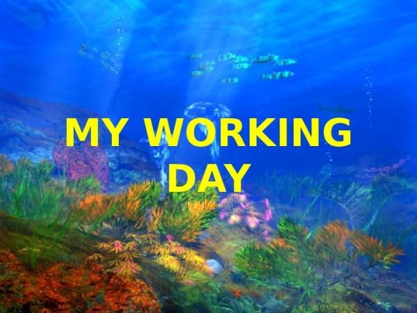 """Презентация по английскому языку на тему""""Мой рабочий день ..."""