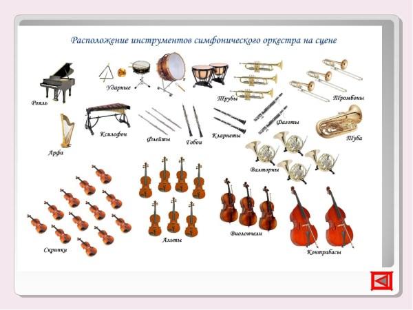 Gruesomehow состав симфонического оркестра.