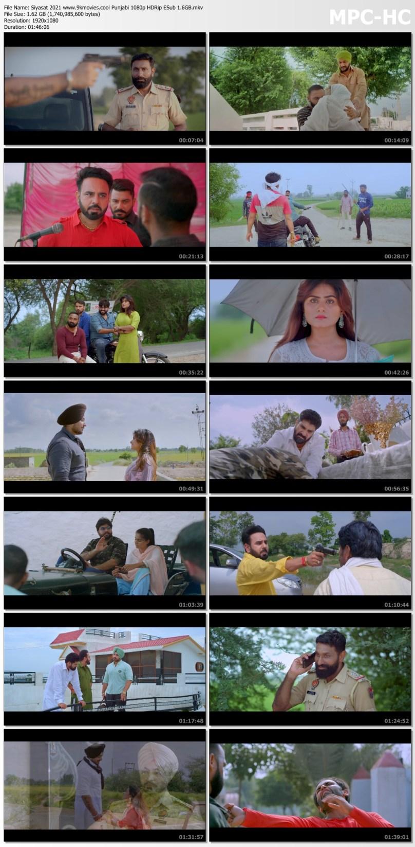 Download Siyasat 2021 Punjabi 480p HDRip ESub 350MB