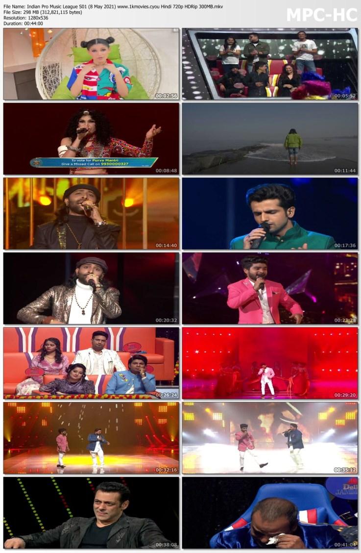 Download Indian Pro Music League S01 (8 May 2021) Hindi 720p HDRip 300MB