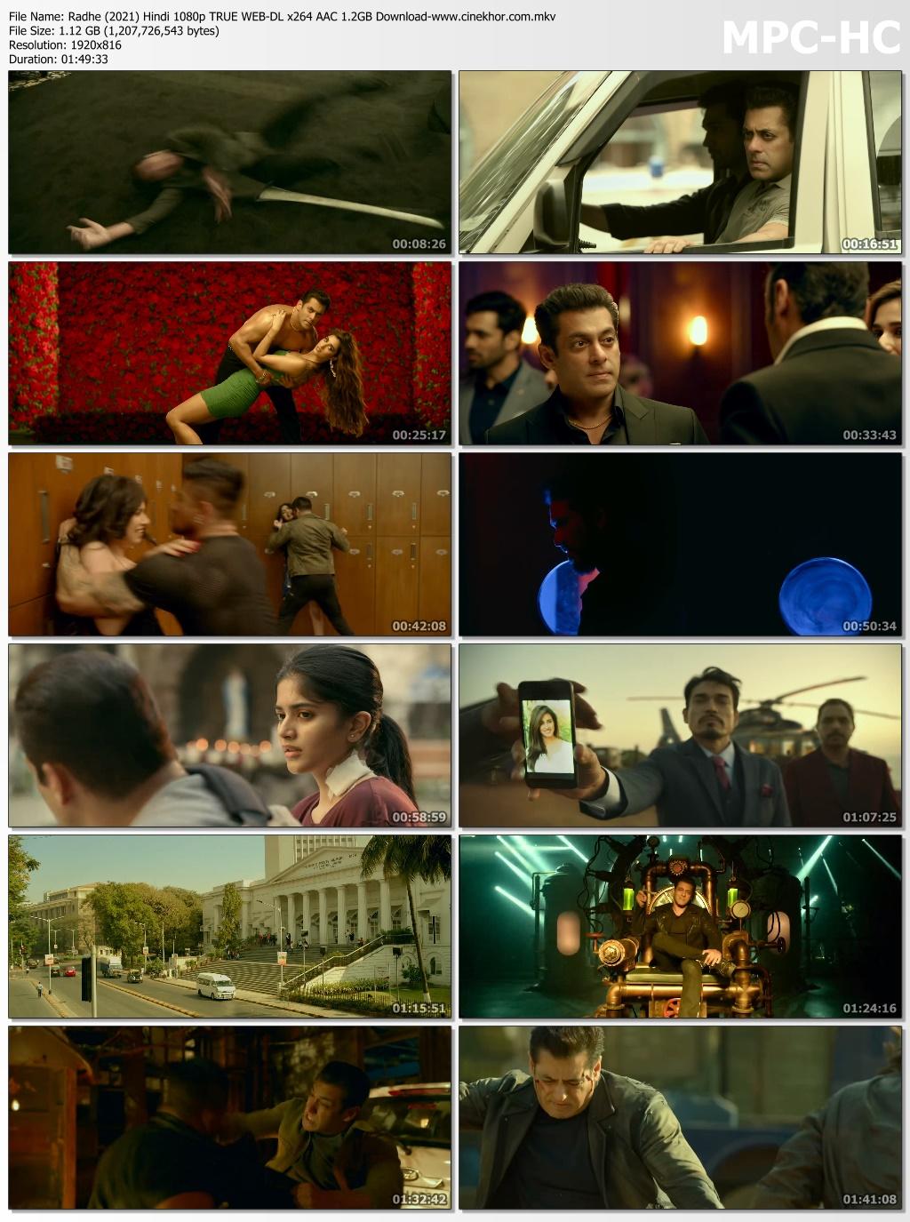 Radhe Hindi Movie 2021 480p HDRip 400MB Download