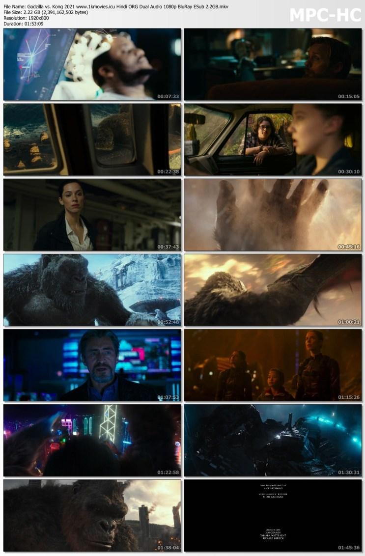 Download Godzilla vs. Kong 2021 Hindi ORG Dual Audio 1080p BluRay ESub 2.2GB