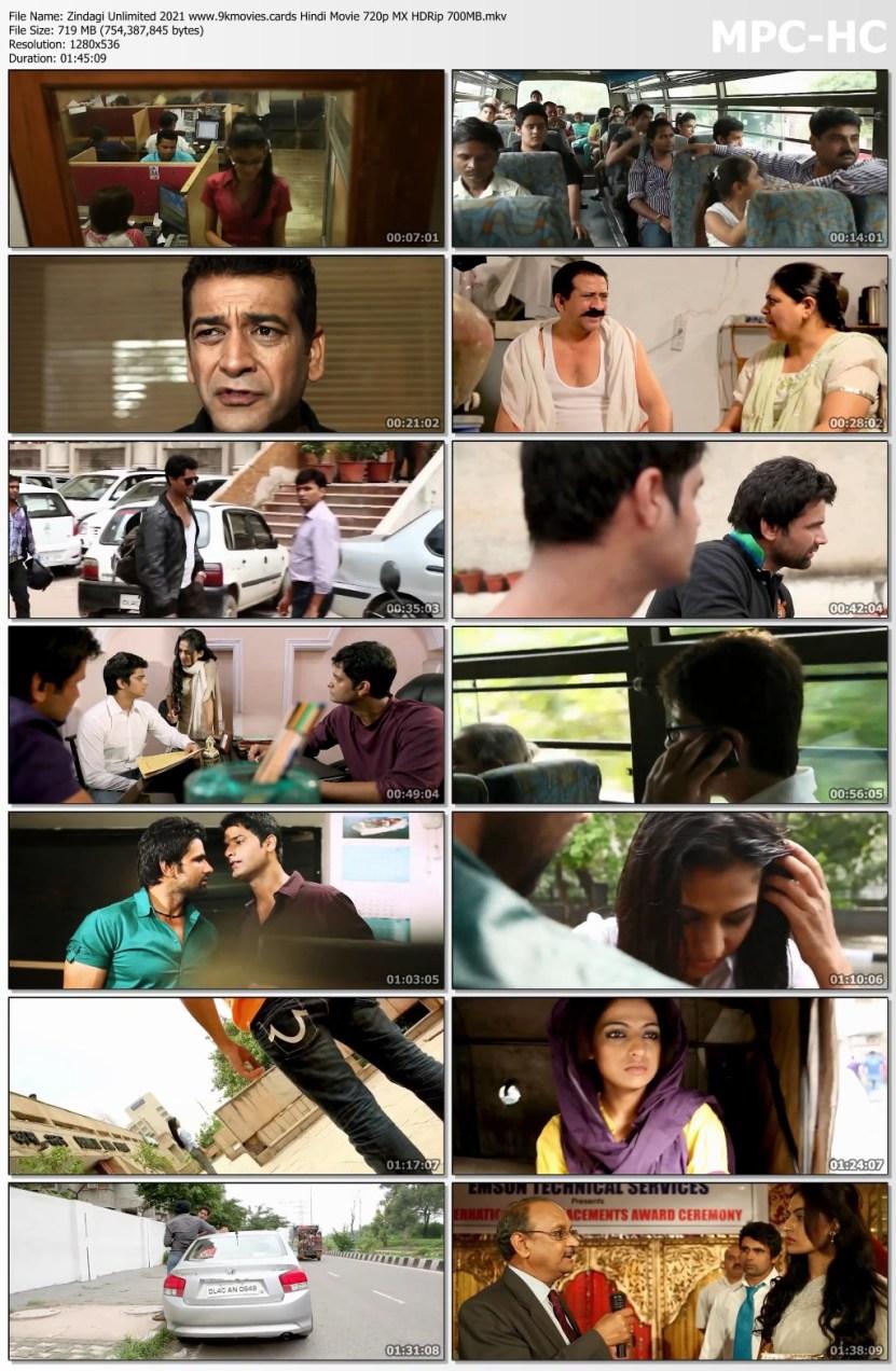 Download Zindagi Unlimited 2021 Hindi Movie 720p MX HDRip 700MB