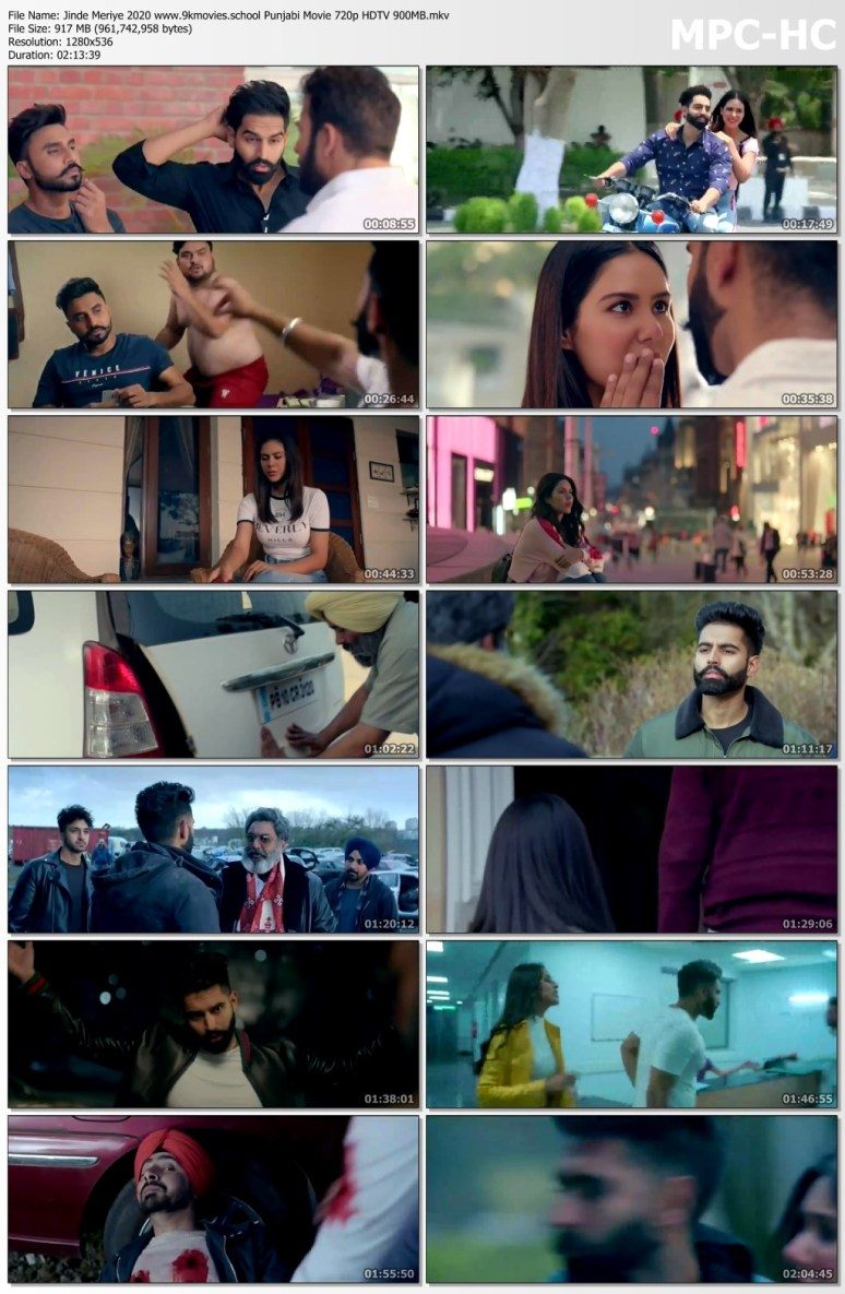Jinde Meriye 2020 Punjabi Movie 720p HDTV 900MB Download