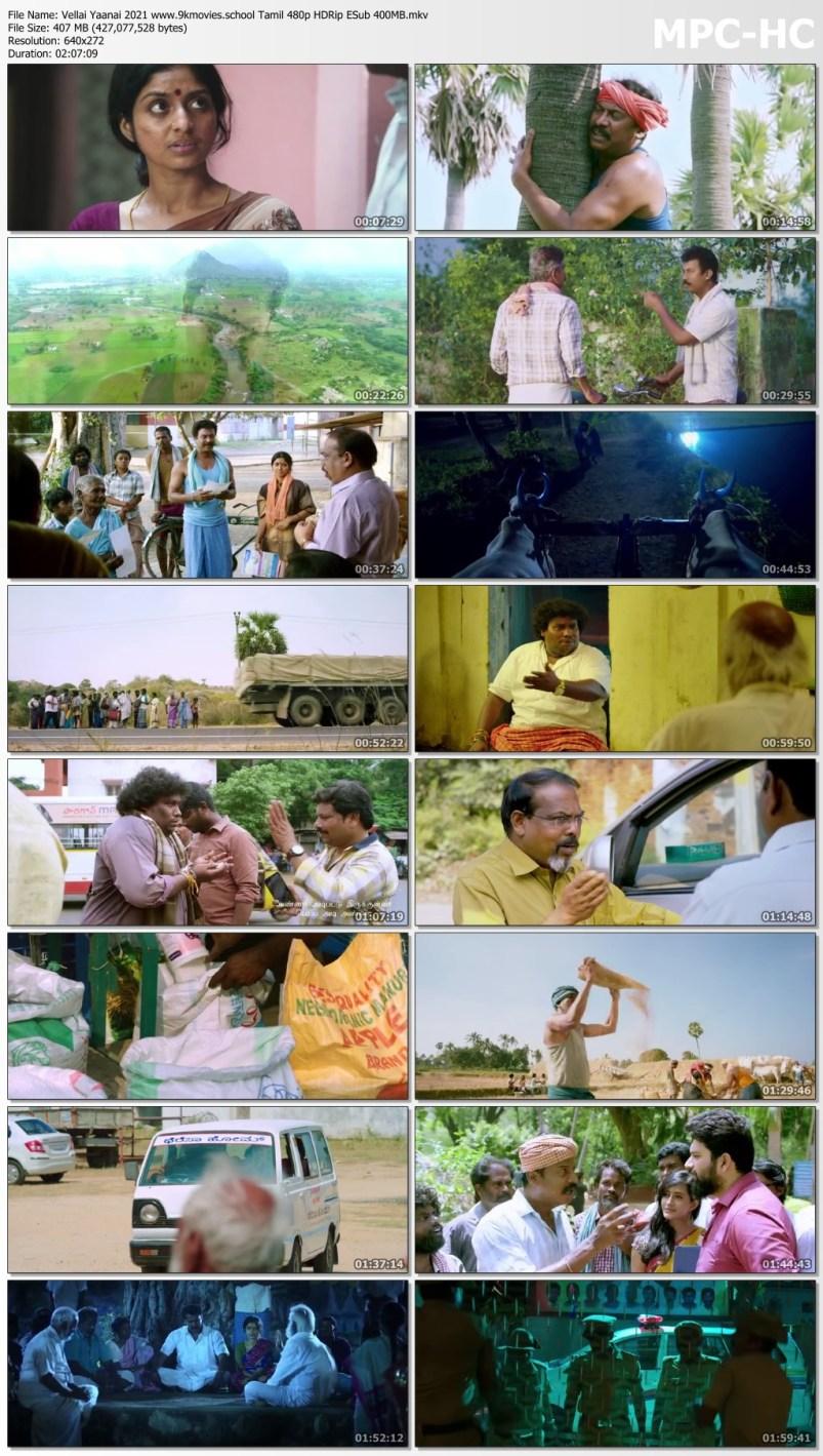 Download Vellai Yaanai 2021 Tamil Movie 480p HDRip ESub 400MB