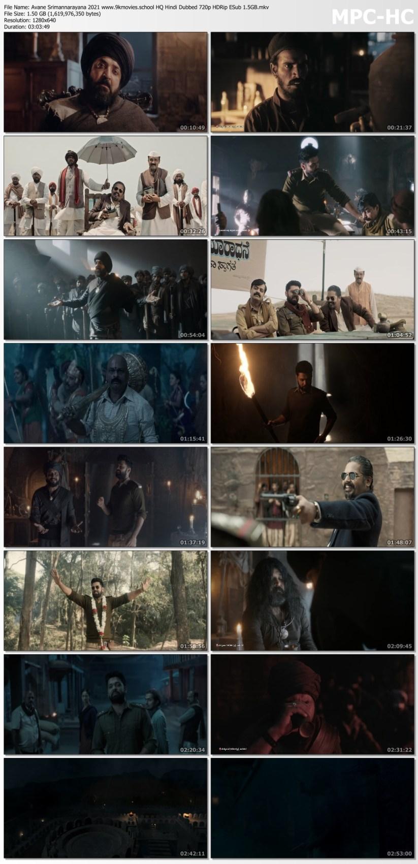 Download Avane Srimannarayana 2021 HQ Hindi Dubbed 720p HDRip ESub 1.5GB