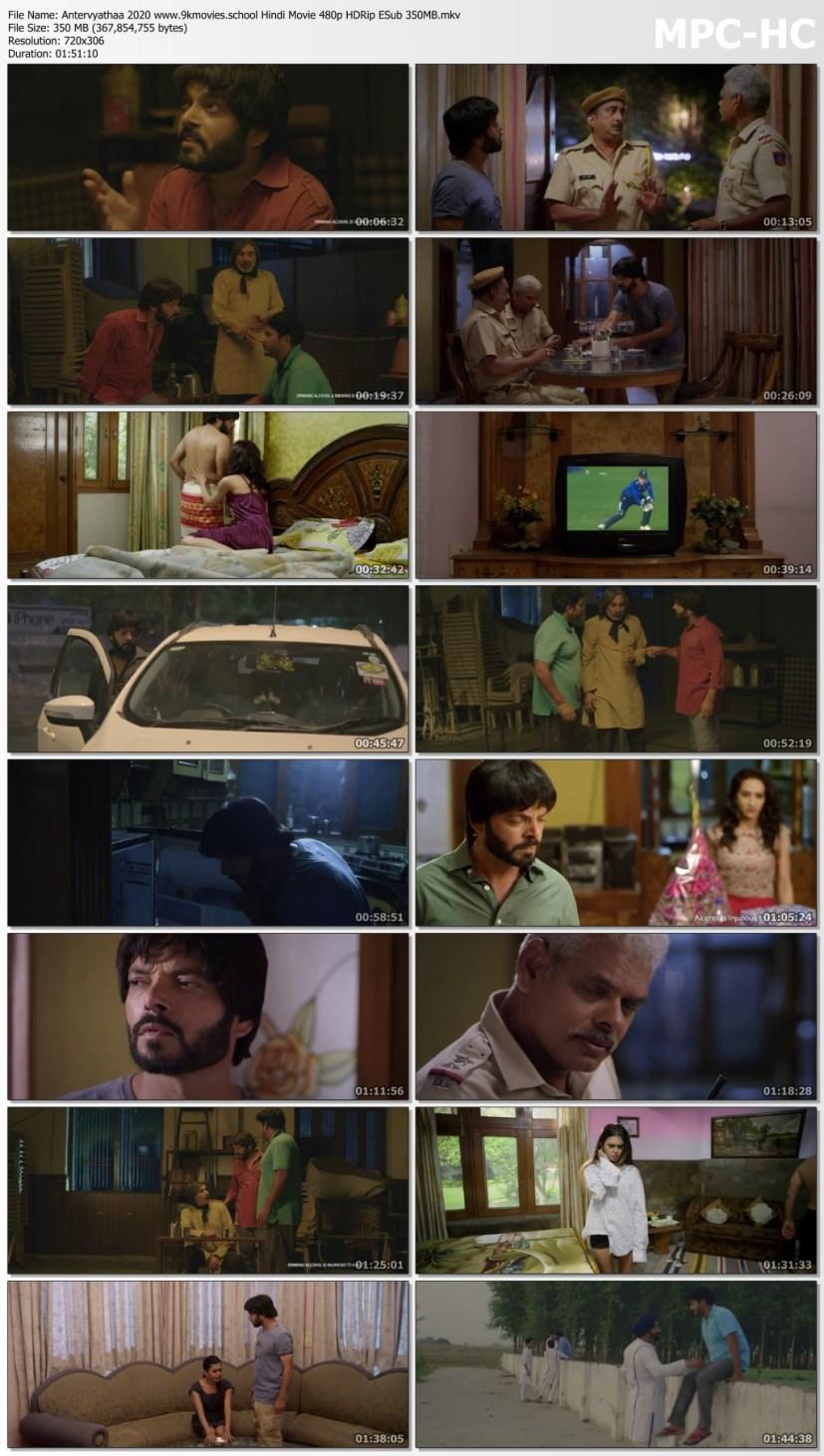Download Antervyathaa 2020 Hindi Movie 480p HDRip ESub 350MB