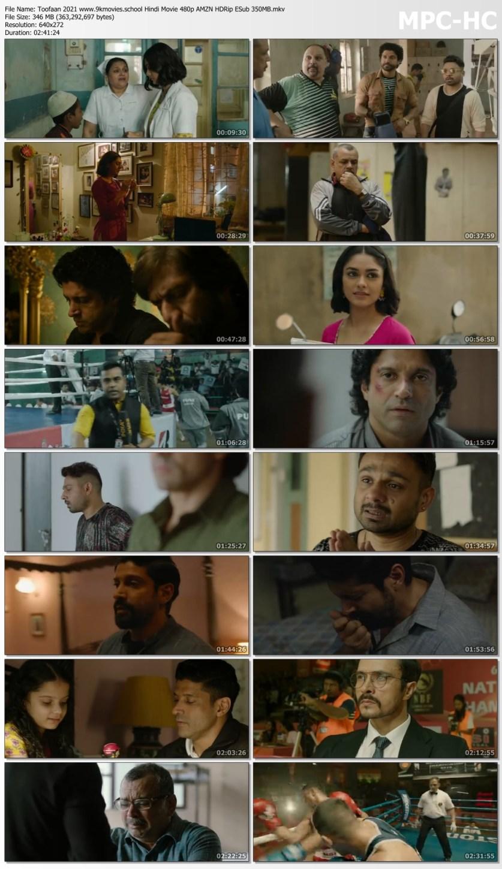 Download Toofaan 2021 Hindi Movie 480p AMZN HDRip ESub 350MB