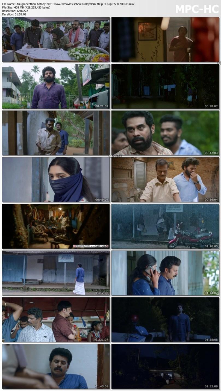 Download Anugraheethan Antony 2021 Malayalam 480p HDRip ESub 400MB
