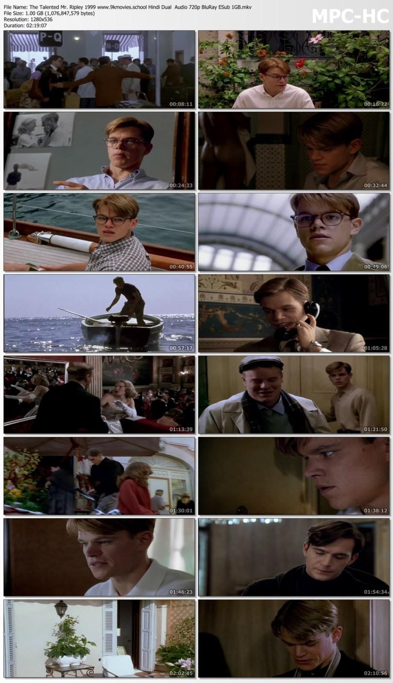 Download The Talented Mr. Ripley 1999 Hindi Dual Audio 720p BluRay ESub 1GB