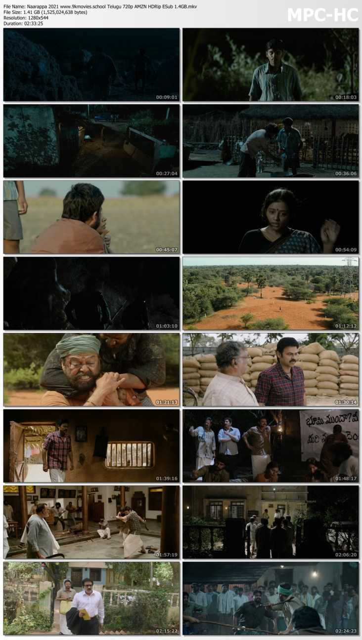 Download Naarappa 2021 Telugu 720p AMZN HDRip ESub 1.4GB