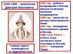 Москва – центр борьбы с ордынским владычеством ...