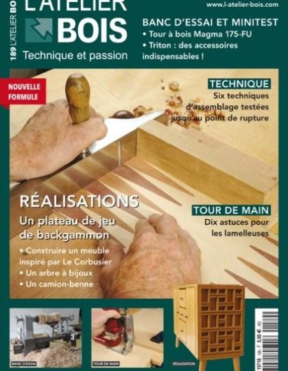 L'Atelier Bois Magazine No.189 - Décembre 2014 - Janvier 2015