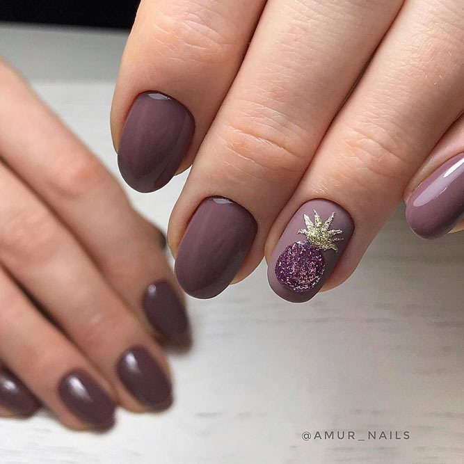 22+ Stunning Mauve Color Nails Designs 2018 , Style2 T