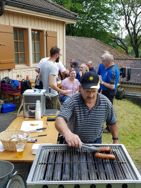 Grillmeister in Aktion