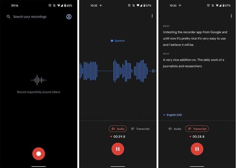 Google recorder app test