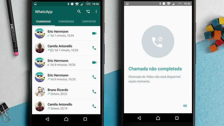 whatsapp chamadas video 1