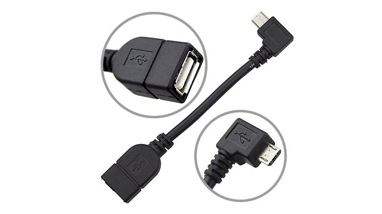 How to connect a smartphone tablet USB OTG