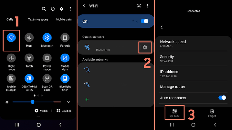 2021 04 14 Samsung One UI WiFi create