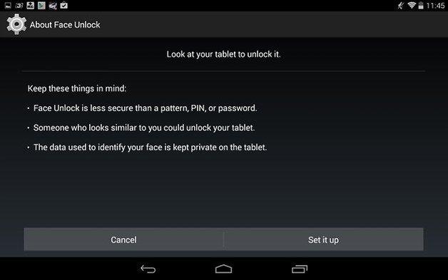 AndroidPit Nexus 7 разблокировка лица