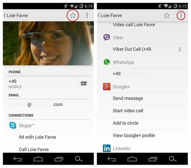 Страница контактов AndroidPIT новинка