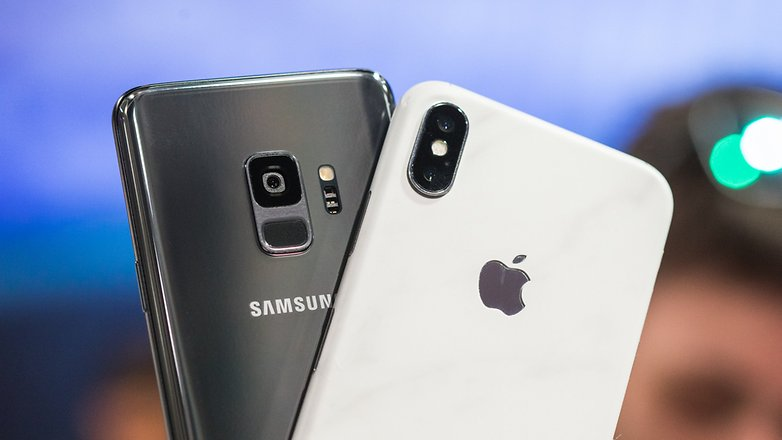 AndroidPIT samsung galaxy s9 против iphone x 7390