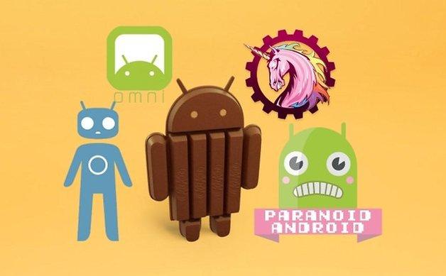 Пользовательские ромы Android KitKat