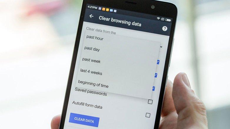 androidpit android очистить данные просмотра на мобильном устройстве