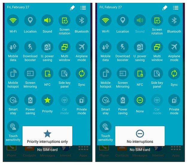 ANdroidPIT Galaxy Note 4 Android 50 Lollipop уведомления звуковые прерывания