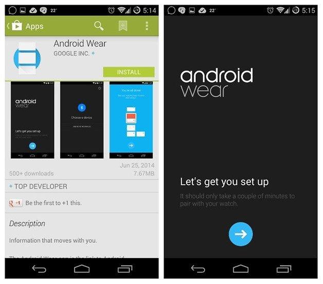 AndroidPIT Настройка Android Wear 1