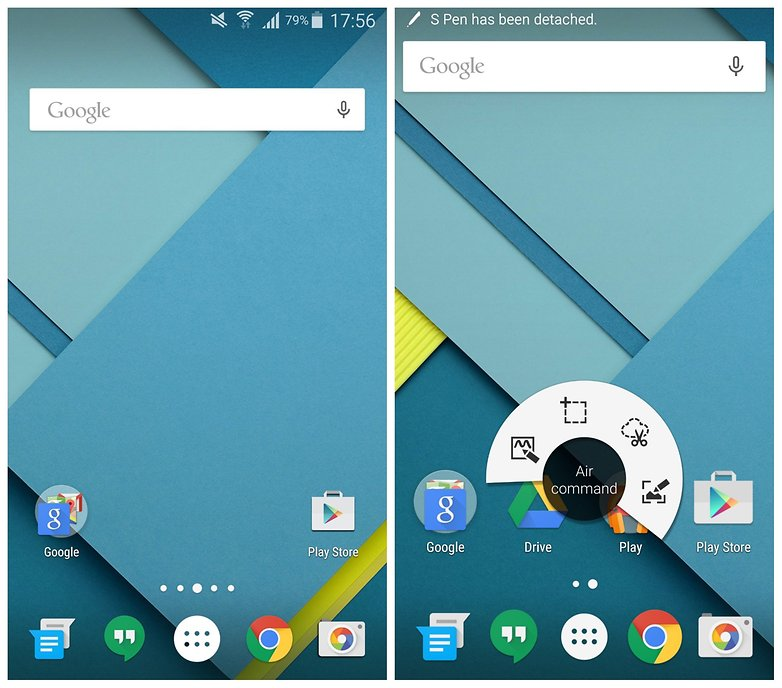 AndroidPIT Apex Launcher Google Now Launcher Galaxy Note 4 на складе Android
