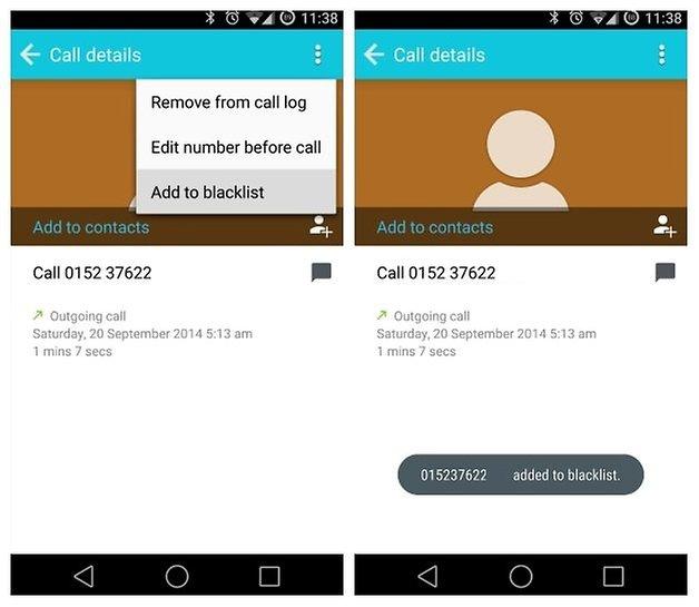 Черный список AndroidPIT Dialer 2
