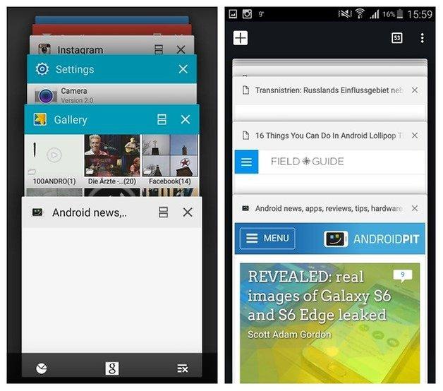 AndroidPIT Galaxy Note 3 Android 5 0 Lollipop Chrome вкладывает последние приложения