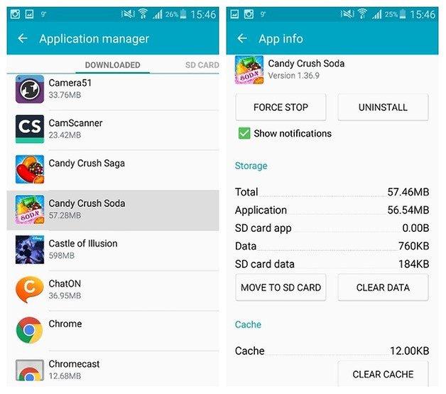 AndroidPIT Galaxy Note 3 Android 5 0 Менеджер приложений Lollipop очистить кеш данных