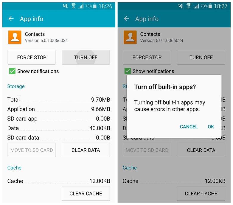 AndroidPIT Galaxy Note 34 TouchWiz отключить контакты приложения