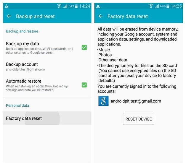AndroidPIT Galaxy Note 4 Android 5 0 Lollipop сброс настроек до заводских