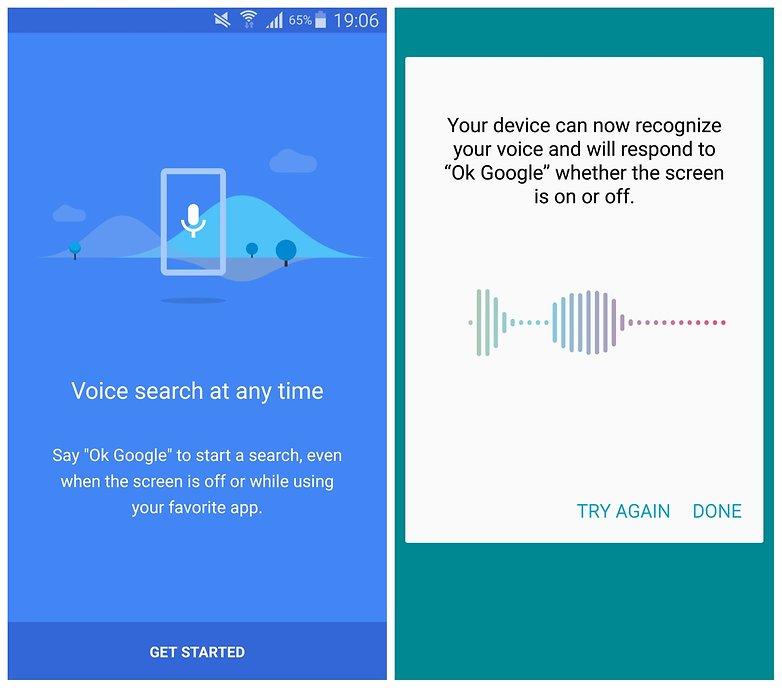 AndroidPIT Galaxy Note 4 Распознавание голоса Google Now