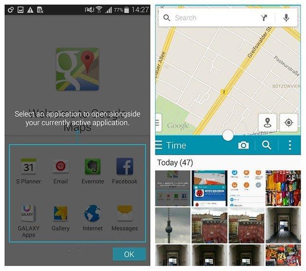 AndroidPIT Galaxy Note 4 многооконный режим