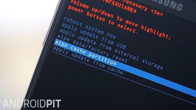 Режим восстановления AndroidPIT Galaxy Note 4 очистить раздел кеша