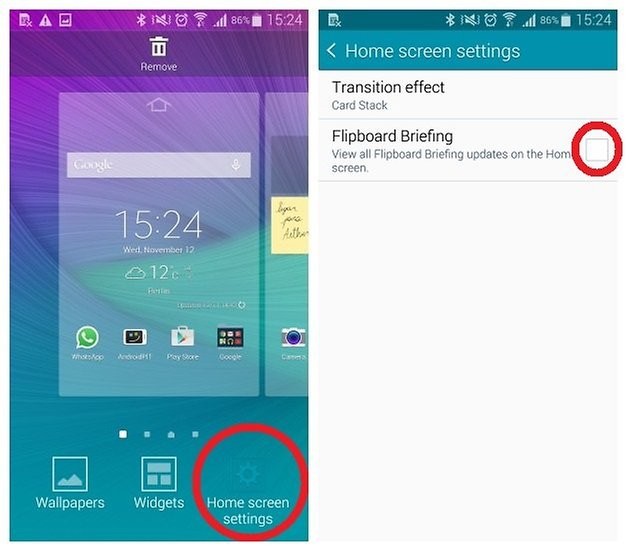 AndroidPIT Galaxy Note 4 удалить Flipboard