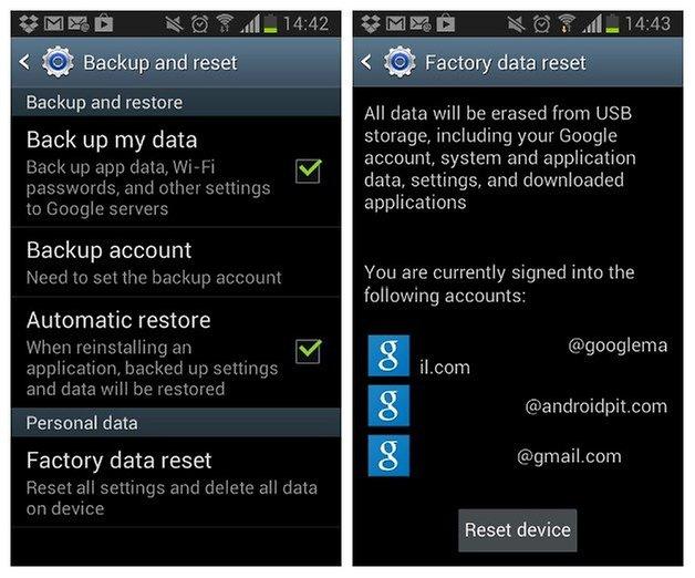 Заводские настройки AndroidPIT Galaxy S2