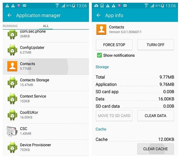 AndroidPIT Galaxy S4 Android 5 0 1 Lollipop App Manager Contacst