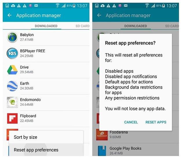 AndroidPIT Galaxy S4 Android 5 0 1 Lollipop Сброс настроек приложения