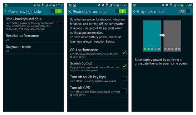 Режим энергосбережения AndroidPIT Galaxy S5