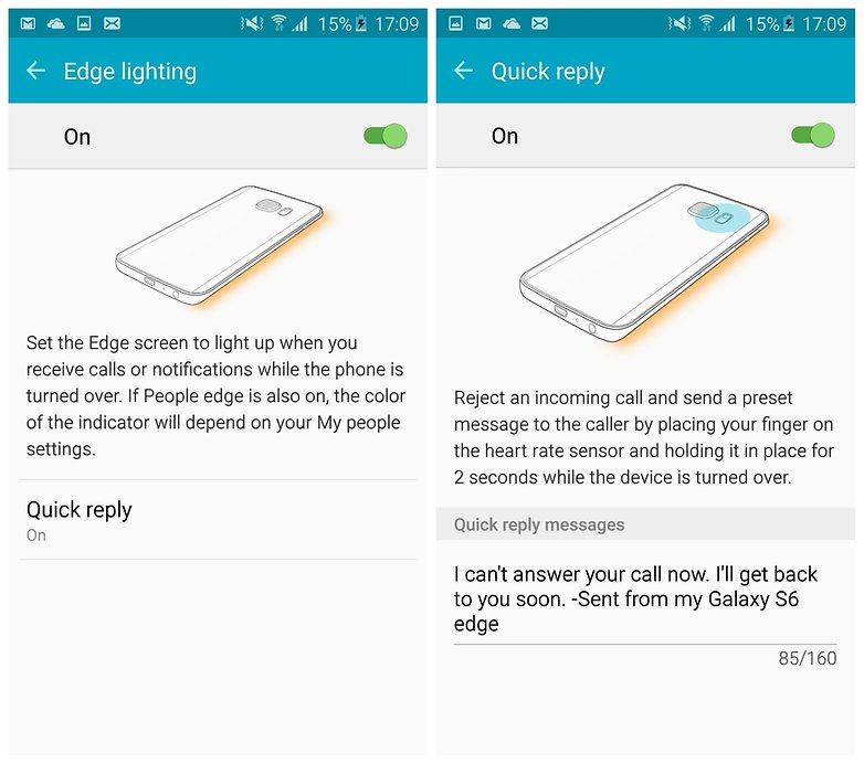 AndroidPIT Galaxy S6 Edge TouchWiz Edge Screen быстрый ответ